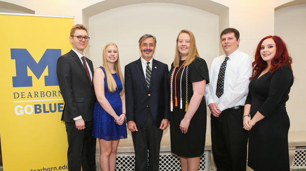 Chancellor's Medallion recipients with Chancellor Domenico Grasso