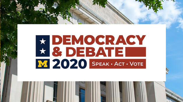 Democracy and Debate 2020 logo