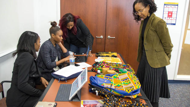 African business owners share their products with College of Business class