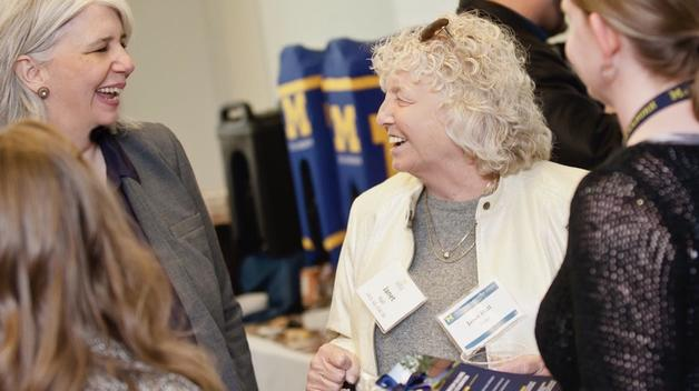 Janet Hall attends a UM-Dearborn event in 2019.