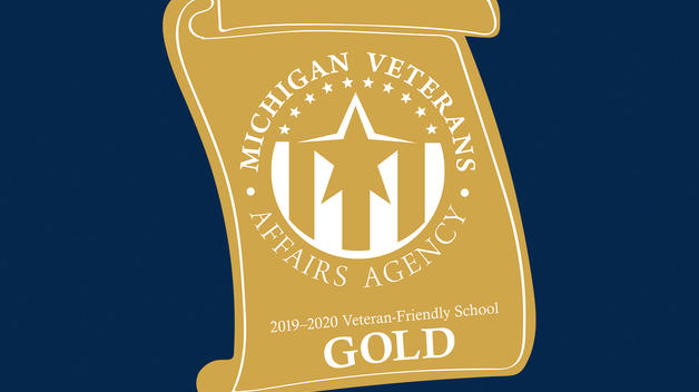 Michigan Veteran-Friendly School gold-level award