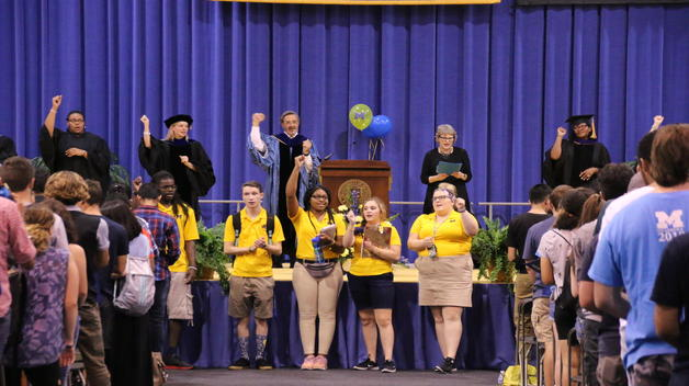 New Student Convocation gave a proper welcome to UM-Dearborn's newest Wolverines.