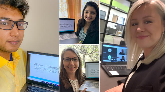 Graduate students participated virtually in a business competition