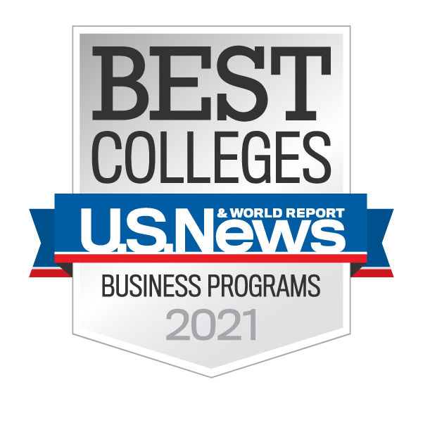 U.S. News & World Report Best Business Programs 2020 badge