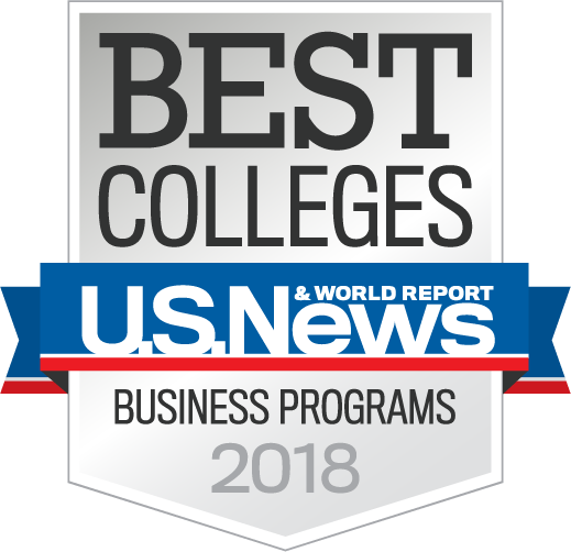 U.S. News & World Report Best Business Programs 2018 badge
