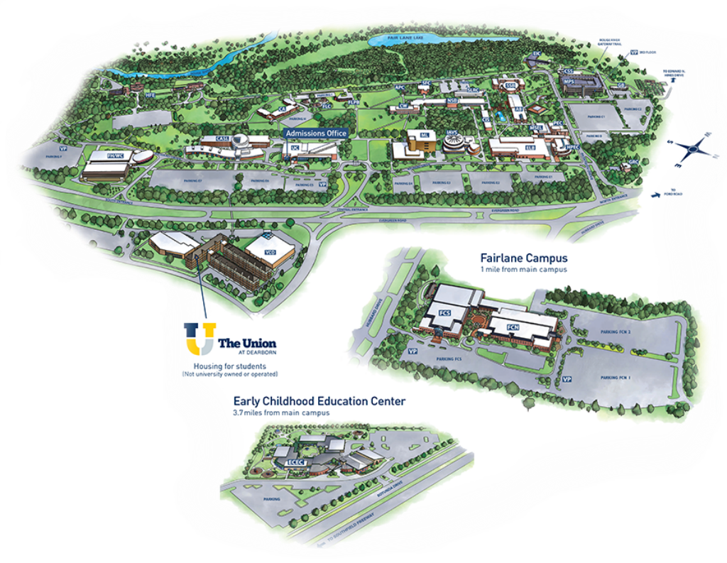 uofm dearborn campus map Ford Motor Company Dearborn Map